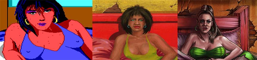İlk oyunun 3 farklı versiyonundaki meşhur hayat kadını.