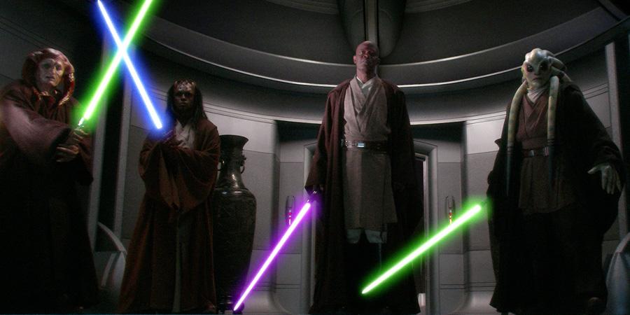 Samuel L. Jackson'un canlandırdığı Mace Windu karakterinin mor bir ışın kılıcı taşımasının nedeni nedir?