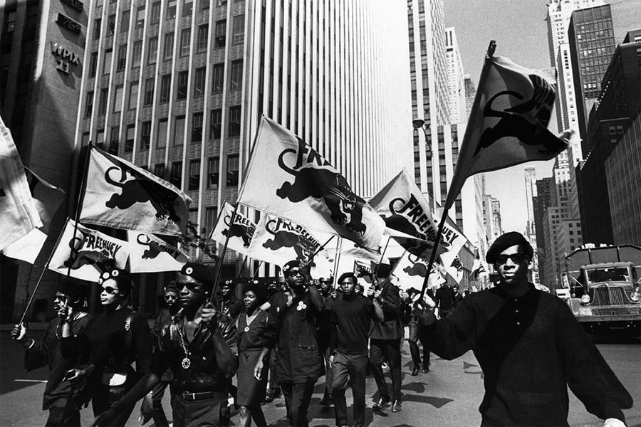 Black Panther Partisi, kızlı erkekli protesto yürüyüşündeyken