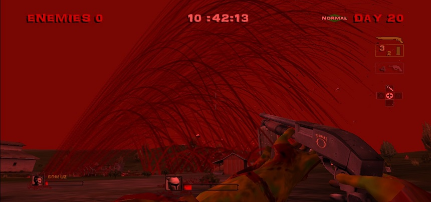 Gördüğünüz gibi her yer kan. Her yer kırmızı. Filtre değil gerçek.