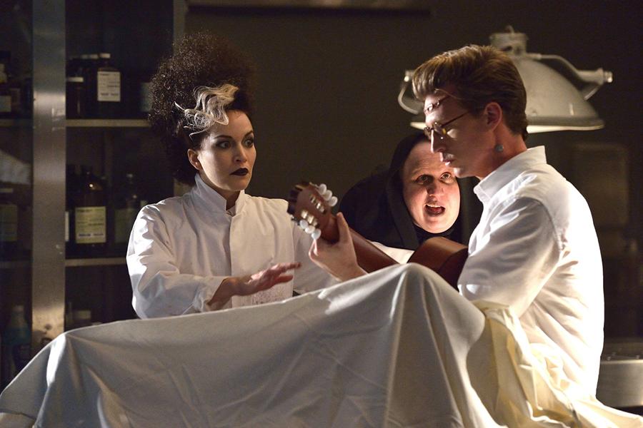 """MAN SEEKING WOMAN -- Episode 9: """"Teacup"""" (Airs Wednesday, March 11, 10:30 PM e/p). Pictured: Britt Lower as Liz, Matt Lucas as Igor, Josh Meyers as Frankenboyfriend. CR: Michael Gibson/FXX"""