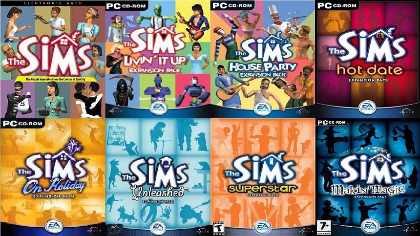 The Sims bütün ek paketleri