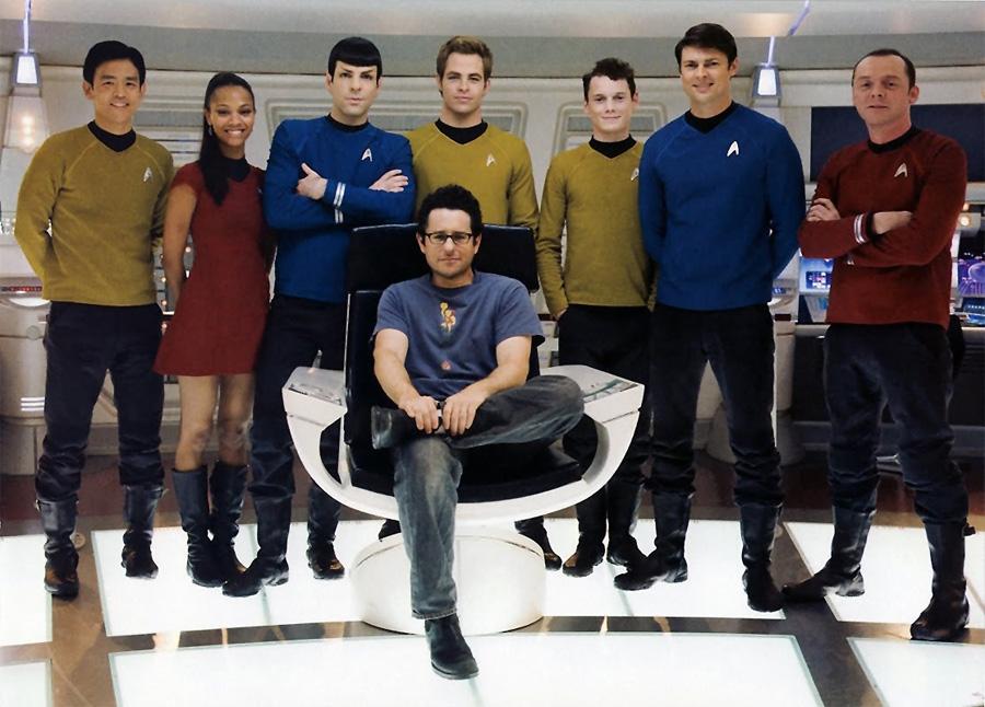 Abrams ve 2009 Star Trek kadrosu
