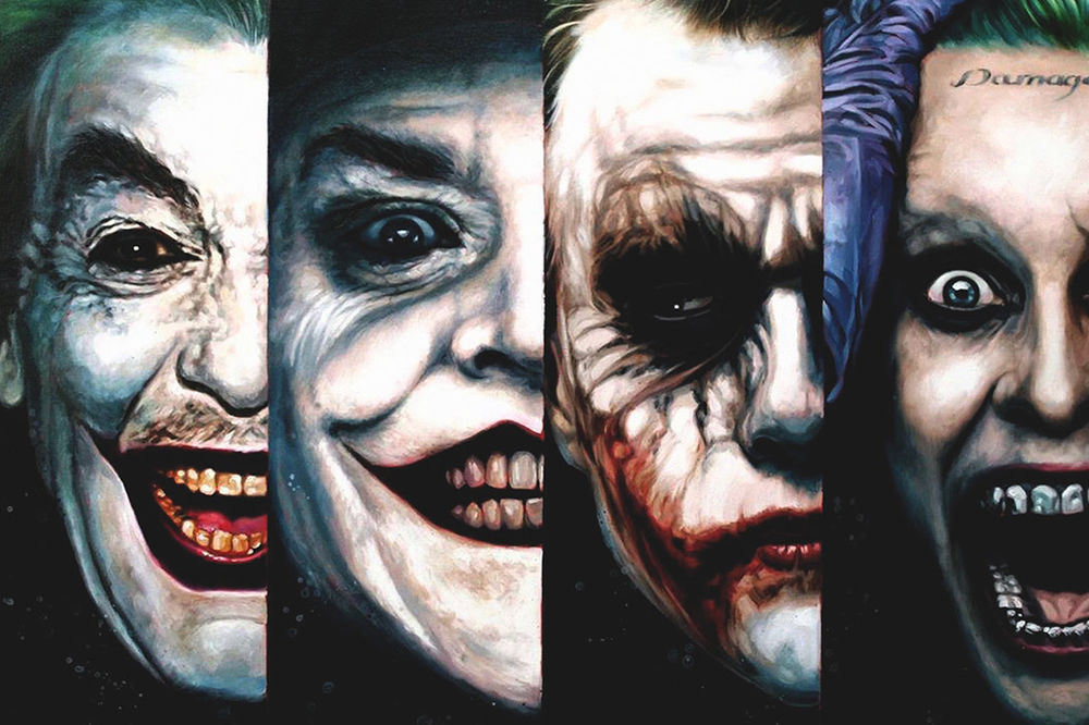 Cesar Romero (1966), Jack Nicholson (1989), Heath Ledger (2008) ve Jared Leto (2016)