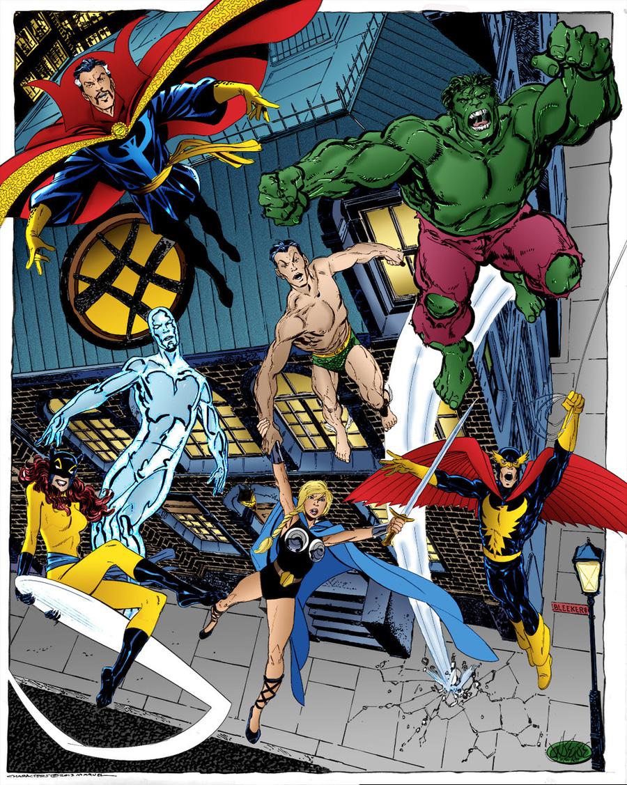 Doctor Strange, Namor, Hulk, Silver Surfer, Hellcat, Valkriye ve Nighthawk'tan oluşan bir Defenders ekibi. Kafayı peynir ekmekle yemediyseniz onlara bulaşmak istemezsiniz!