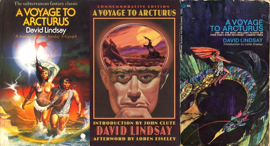 Arcturus'a Yolculuk için geçmişte tasarlanan kitap kapaklarından örnekler.