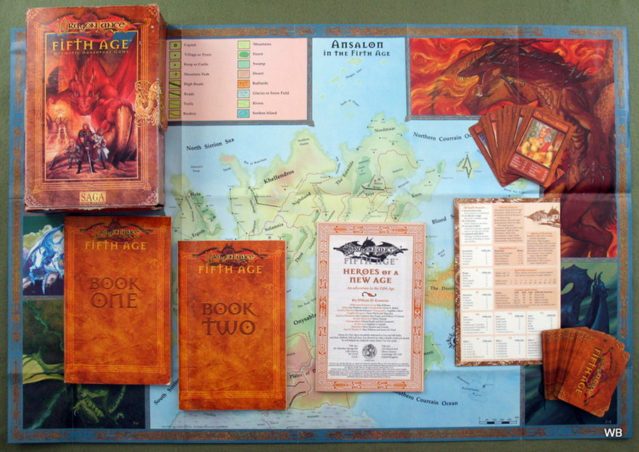 Dragonlance: Fifth Age - Kutu içeriği