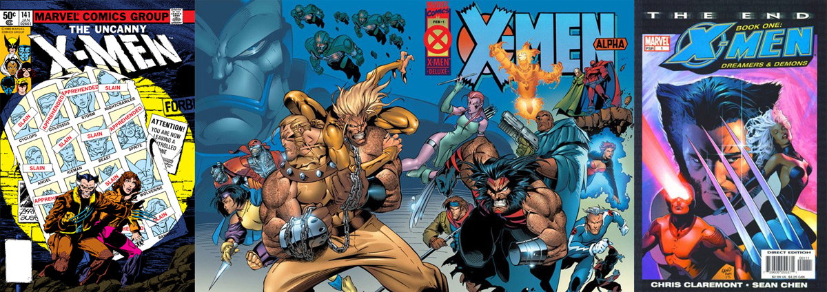 X-Men: Days of Future Past (1981), X-Men: Age of Apocalypse (1995) ve X-Men: The End (2005)