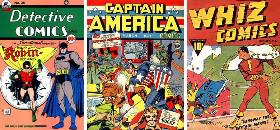 Robin (1940), Bucky (1941) ve Shazam (1940)