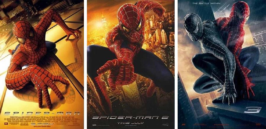 Spider-Man (2004), Spider-Man 2 (2004) ve Spider-Man 3 (2007)