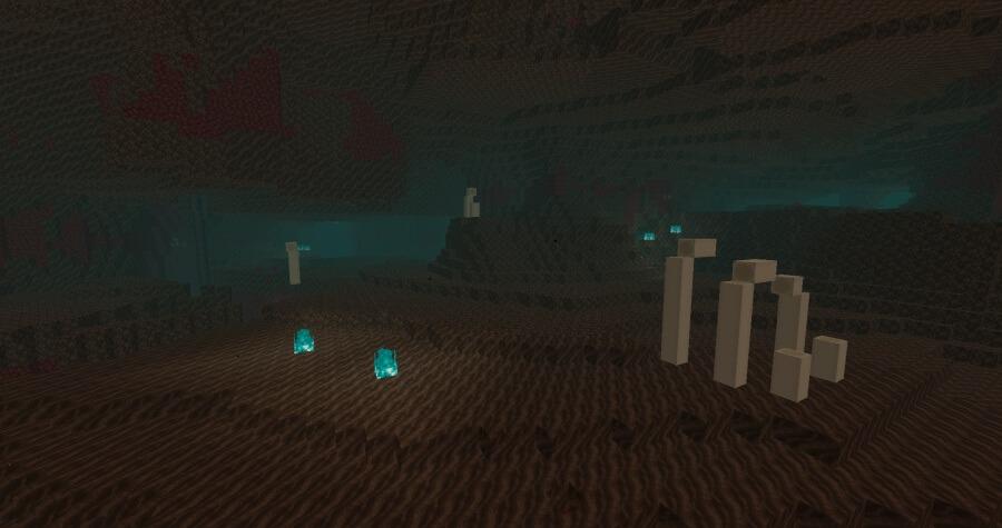 Minecrafttan fosilli kum çölü görseli